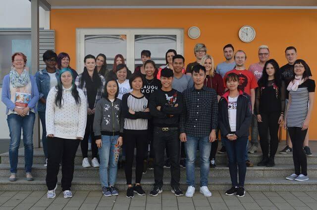 Học viên AVT tại trường đào tạo điều dưỡng người già Zwickau