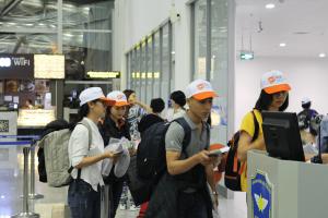 Học viên AVT tại sân bay