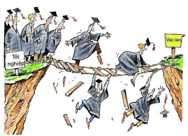 Hàng loạt sinh viên Việt Nam thất nghiệp sau khi ra trường.