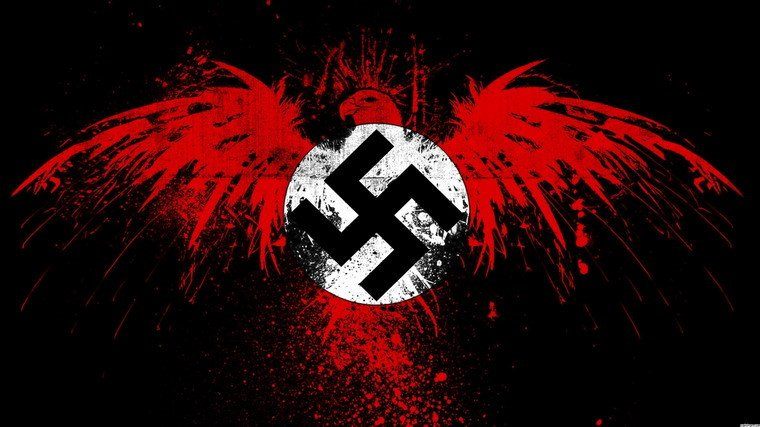 Cờ phát xít Đức có biểu tượng chữ thập ở giữa