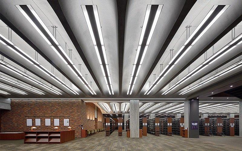 Hình ảnh thư viện hiện đại của đại học Rikkyo