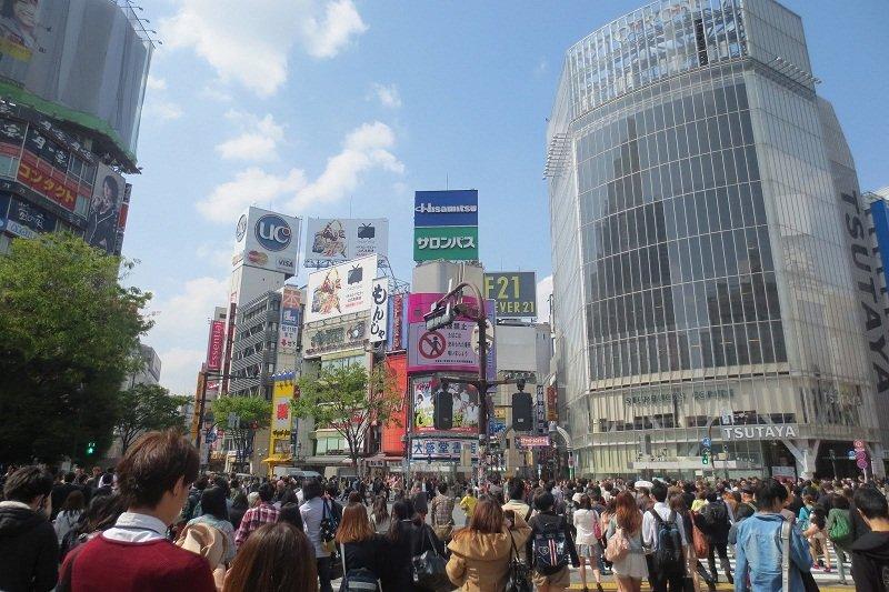 Shibuya nằm tại khu vực sầm uất