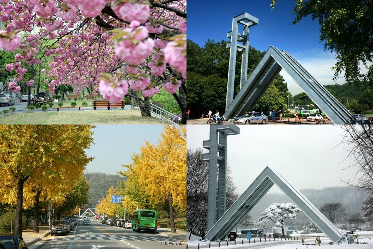 Cảnh quan 4 mùa tại Đại học Quốc gia Seoul