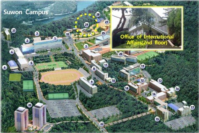 Khuôn viên Đại học Kyonggi Hàn Quốc cơ sở Suwon