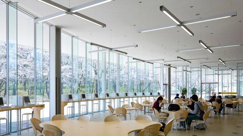 Cơ sở hiện đại với view ngắm hoa anh đào tuyệt đẹp