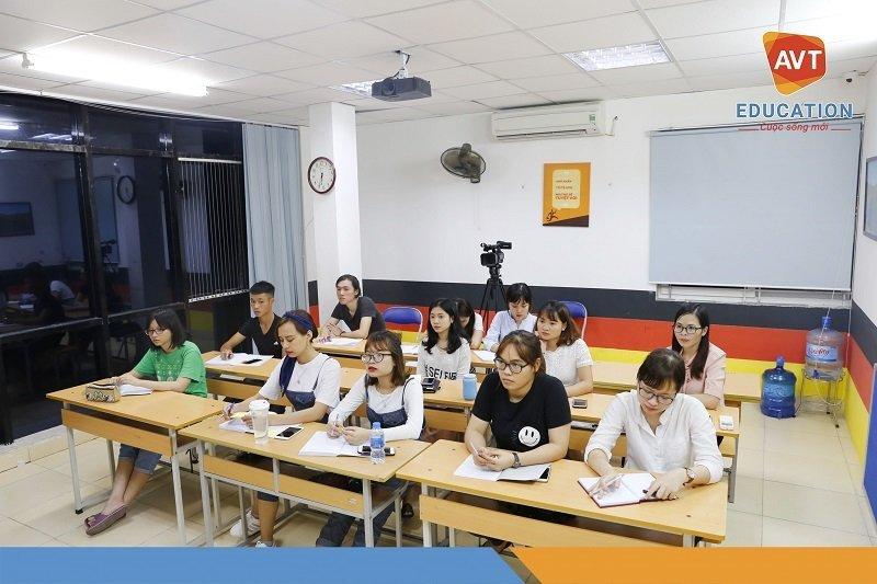 Các lớp tiếng Hàn ở AVT thu hút được sự quan tâm của đông đảo học viên