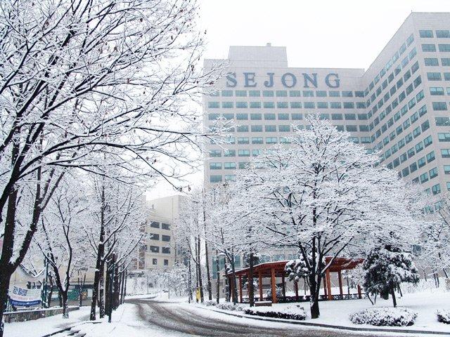 Đại học Sejong vào mùa đông