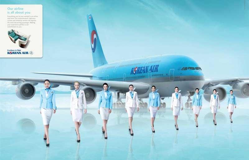 Du học Hàn Quốc ngành tiếp viên hàng không mang đến cơ hội việc làm với thu nhập khủng