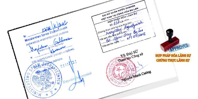 Thủ tục xin visa du học Hàn Quốc hợp pháp hóa chứng nhận lãnh sự