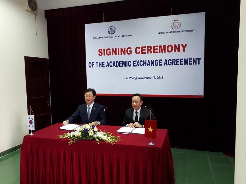 Đại học Hải dương Hàn Quốc ký kết hợp tác với Đại học hàng hải Việt Nam