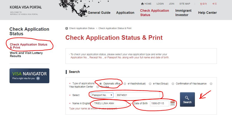 kiểm tra visa du học Hàn Quốc