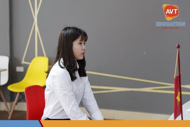 Các bạn học sinh AVT đã thể hiện khá tốt trước đại diện tuyển sinh trường Chung Ang