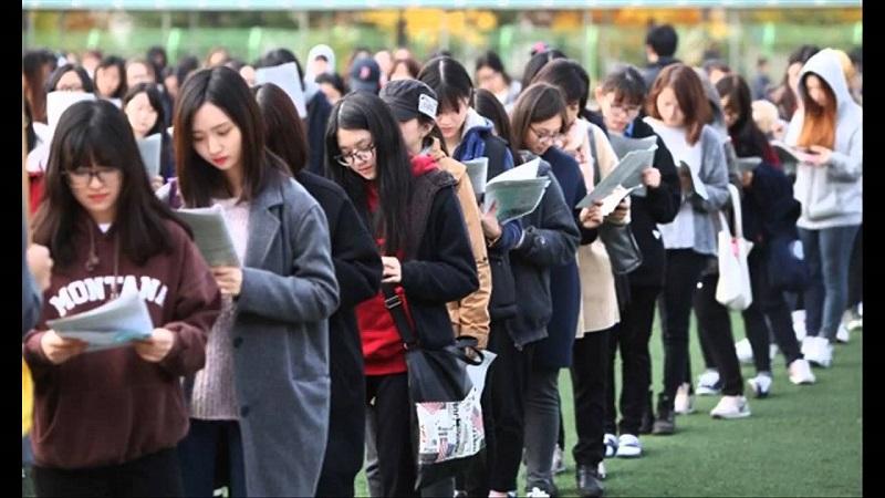 Học sinh tập trung ôn luyện cho kỳ thi đại học ở Hàn Quốc