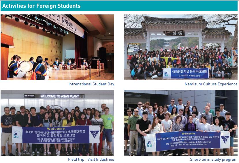 Hoạt động ngoại khóa tiếng Hàn Đại học Nam Seoul
