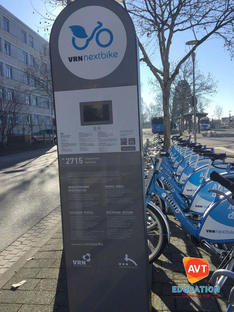 Tại Đức có rất nhiều điểm cho thuê xe đạp