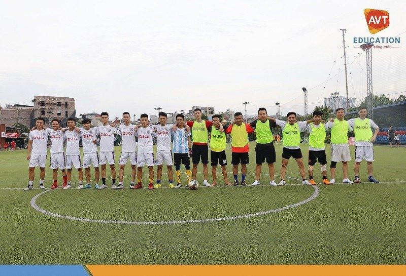 Giao lưu bóng đá giữa học viên và các cán bộ nhân viên tại AVT