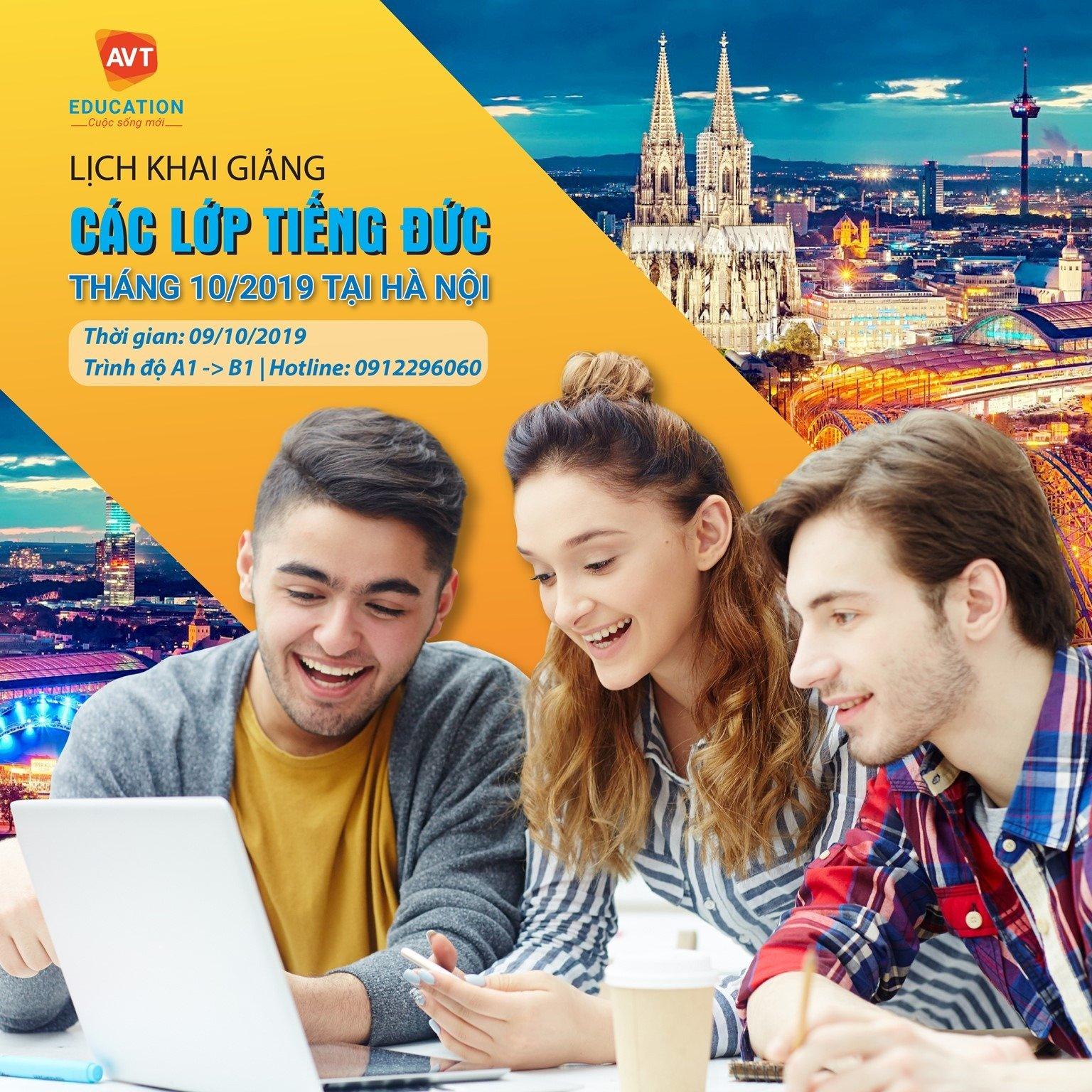 Lịch khai giảng tiếng Đức tháng 10/2019