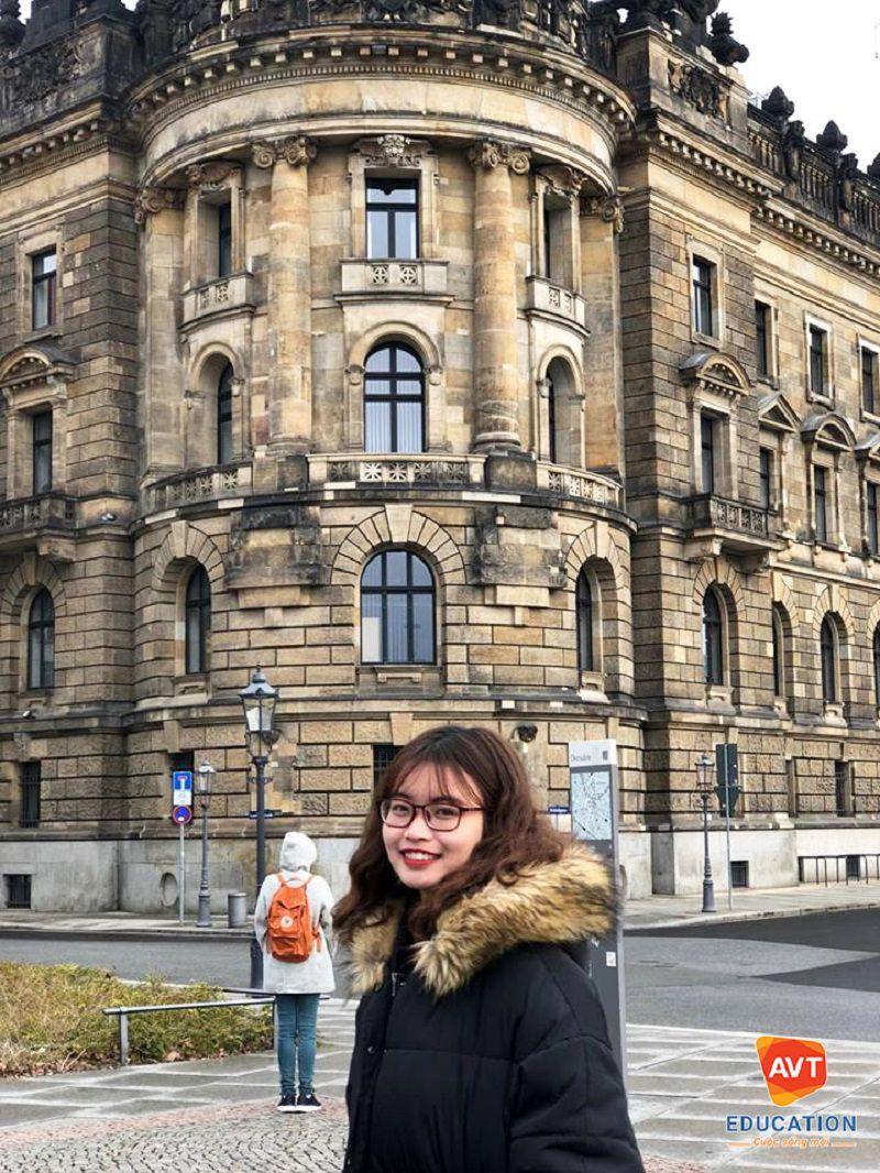 Cô Trang từng giành được suất học bổng Erasmus+ danh giá tại trường Đại học Greifswald, CHLB Đức