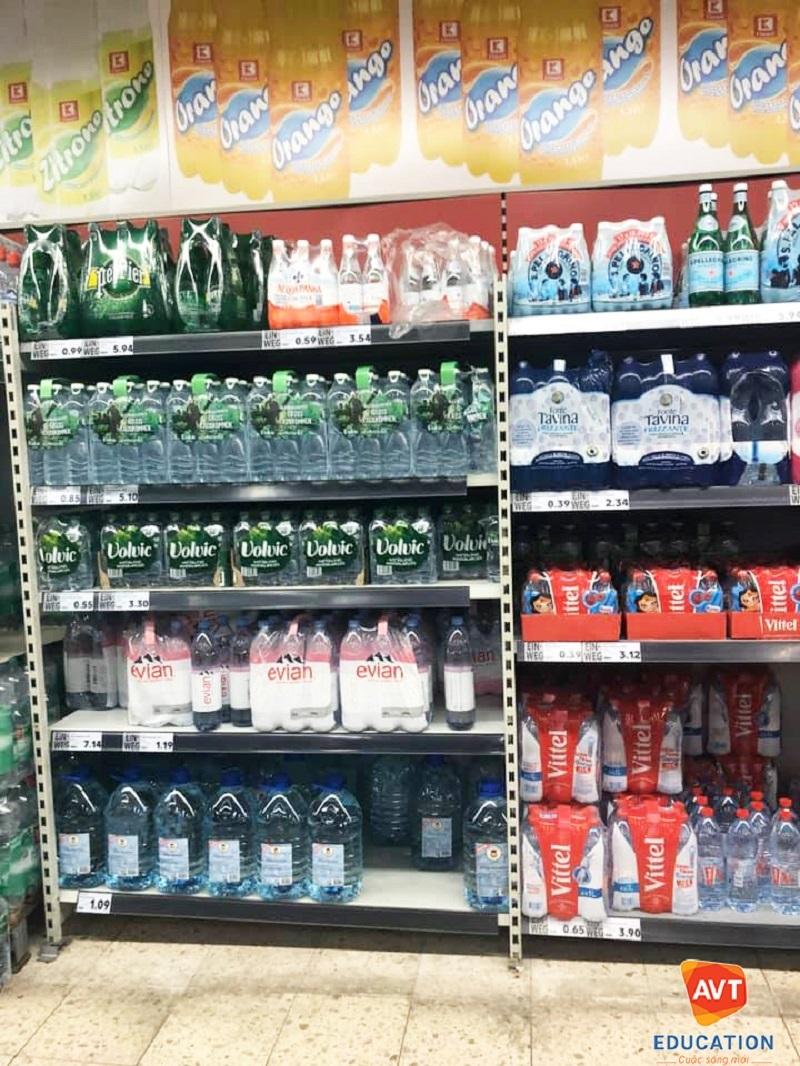 Ở Đức có rất nhiều loại nước uống đóng chai