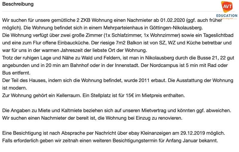 Ở Đức thời hạn thuê nhà ít nhất phải từ 6 tháng
